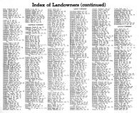 Index of County Landowners by Townships 2, Montgomery County 1949