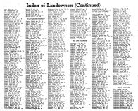 Index of County Landowners by Townships 3, Montgomery County 1949