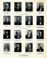 Denton, Houser, Warfield, Chester, Raub, Covell, Cole, Patterson, Friedrich, Otto. Duge, Mische, Muscatine County 1899