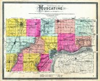 Muscatine- Topographical Map, Muscatine County 1899