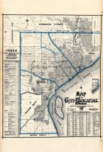 Muscatine City Map 1, Muscatine County 1899