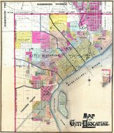 Muscatine City Map Composite, Muscatine County 1899