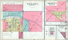 Paullina, Moneta, Max, Plessis, O'Brien County 1911