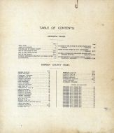 Table of Contents, O'Brien County 1911