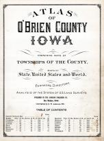 Title Page, O'Brien County 1924