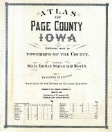 Title Page, Table of Contents, Page County 1920