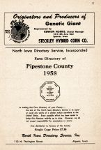 Title Page, Pipestone County 1958