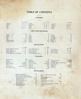 Table of Contents, Scott County 1905