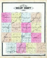 County Outline Map, Shelby County 1899