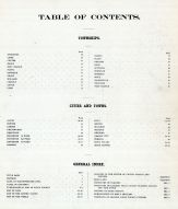 Table of Contents, Sioux County 1908