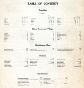 Table of Contents, Washington County 1906