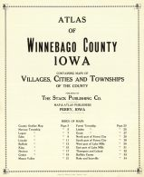 Title Page and Table of Contents, Winnebago County 1928