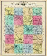 County Topographical, Winneshiek County 1905