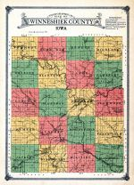 County Map, Winneshiek County 1915