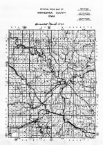Winneshiek County Road Map, Winneshiek County 1940