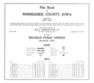 Title Page and Table of Contents, Winneshiek County 1944