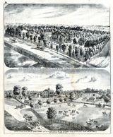 Bird's Eye View of Residence and Grounds of T.M. Rogers, John Sharp Farm, Adams County 1872