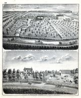 Bird's Eye View of the Fruit Farm of John Stewart, Alexander Collings Residence, Gilmer, Adams County 1872