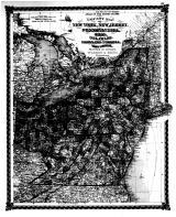 County Map fo New York, New Jersey, Pennsylvania, Ohio, Delaware, Maryland, Virginia, & West Virginia, Bond County 1875 Microfilm