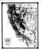 County Map of California, Nevada, Bond County 1875 Microfilm