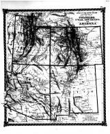 County Map of Colorado, Utah, New Mexico, Arizona, Bond County 1875 Microfilm