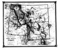 County Map of Idaho, Montana, Wyoming, Bond County 1875 Microfilm