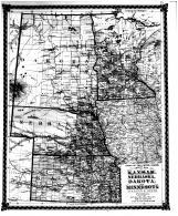 County Map of Kansas, Nebraska, Dakota, Minnesota, Bond County 1875 Microfilm