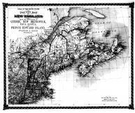 County Map of New England and Provinces of Quebec, New Brunswick, Nova Scotia, Prince Edward Island, Bond County 1875 Microfilm