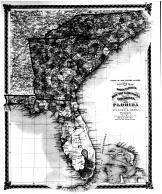 County Map of North Carolina, South Carolina, Georgia, and Florida, Bond County 1875 Microfilm