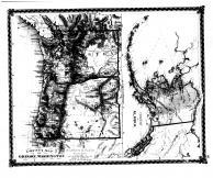County Map of Oregon, Washinton, Alaska, Bond County 1875 Microfilm