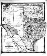 County Map of Texas, Indian Territory, Bond County 1875 Microfilm