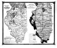 Political Map of Illinois, Worthens Geological & Climate Map of Illinois, Bond County 1875 Microfilm