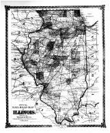 Railroad Map of Illinois, Bond County 1875 Microfilm