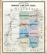 General Map of Boone County Illinois, Boone County 1886