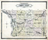 Carroll County Outline Map, Carroll County 1908