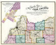 County Sectional Map, Cass County 1874