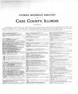 Cass County Patrons Reference Directory 1, Cass County 1899