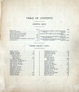 Table of Contents, Coles County 1913