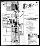 Sheet 048 - Key Map - River-Forest, Altenheim, Maywood, Oak Park, Harlem, Austin, Ridgeland, Cook County 1891