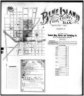 Sheet 089 - Key Map - Blue Island, Cook County 1891