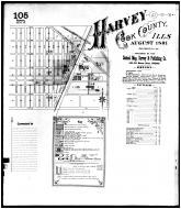 Sheet 105 - Key Map - Harvey, Cook County 1891