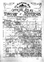 Index Map, Title Page, Cook County 1908 Jefferson Township and Norwood Park