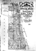 Index Map, Title Page, Cook County 1909 Lakeview Township