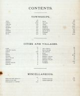 Table of Contents, DeKalb County 1892
