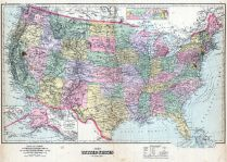 United States Map, DeKalb County 1892