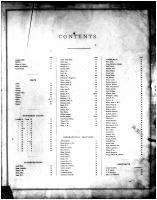 Table of Contents, Douglas County 1875