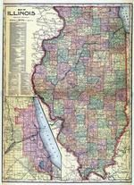 Illinois State Map, Douglas County 1914