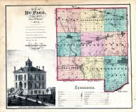 County Map, DuPage County 1874