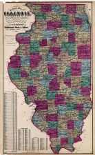 Illinois State Map, DuPage County 1874