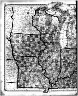 Central States Map - Left, Edgar County 1870